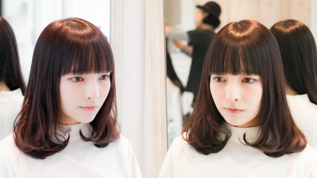 ミディアムヘアの基本的な髪の巻き方